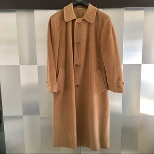 Canali Tan Wool & Mohair Overcoat Size 52